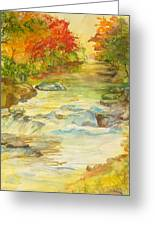 Fall On East Fork River Greeting Card by Kris Dixon