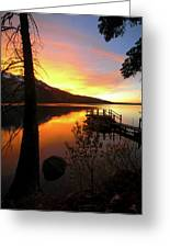 Fallen Leaf Lake Greeting Card by Jacek Joniec