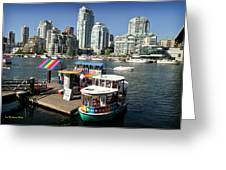 False Creek In Vancouver Greeting Card by Tom Buchanan