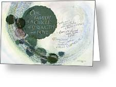 Family Circle Greeting Card by Judy Dodds