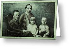 Family Portrait Greeting Card by James W Johnson