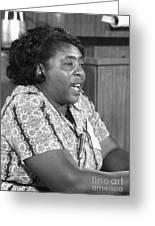 Fannie Lou Hamer (1917-1977) Greeting Card by Granger