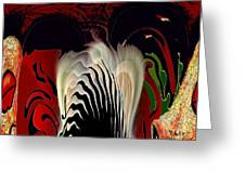 Fantasy Abstract Greeting Card by Natalie Holland