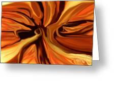 Fantasy In Orange Greeting Card by David Lane