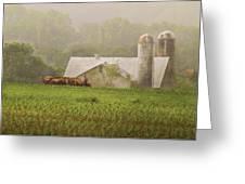 Farm - Farmer - Amish Farming Greeting Card by Mike Savad