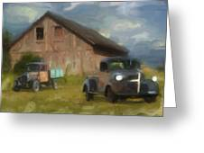 Farm Scene Greeting Card by Jack Zulli