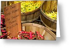 Farmers Market Greeting Card by Andrew Kubica