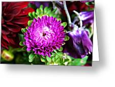 Farmers Market Bouquet Greeting Card by Cathie Tyler