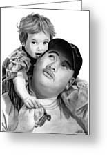 Father And Son Greeting Card by Peter Piatt