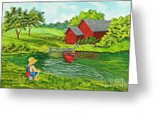 Favorite Fishing Hole Greeting Card by Charlotte Blanchard