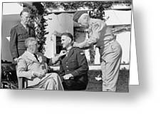 FDR Presenting Medal Of Honor To William Wilbur Greeting Card by War Is Hell Store