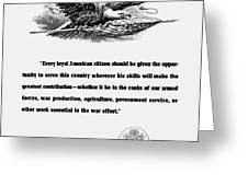 FDR War Quote Greeting Card by War Is Hell Store