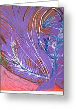 Feathery Fantasy Greeting Card by Anne-Elizabeth Whiteway
