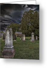 Femme Osage Cemetery Greeting Card by Bill Tiepelman