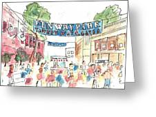 Fenway Park Greeting Card by Matt Gaudian