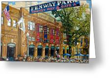 Fenway Summer Greeting Card by Gregg Hinlicky