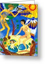 Feral Angels Greeting Card by Sushila Burgess