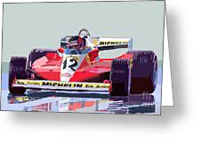 Ferrari 312 T3 1978 Canadian Gp Greeting Card by Yuriy  Shevchuk