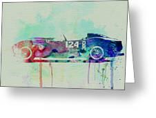 Ferrari Testa Rossa Watercolor 2 Greeting Card by Naxart Studio