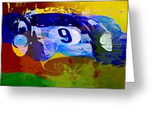 Ferrari Testarossa Watercolor Greeting Card by Naxart Studio