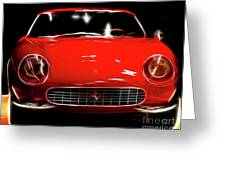 Ferrari Greeting Card by Wingsdomain Art and Photography