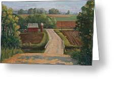 Fertile Farm Greeting Card by Sandra Quintus