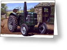 Field Marshall Tractor Greeting Card by Mike  Jeffries