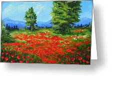Field Of Poppies IIi Greeting Card by Torrie Smiley