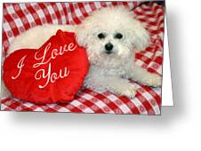 Fifi Loves You Greeting Card by Michael Ledray