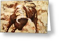 Fight Bull Greeting Card by Jose Espinoza