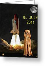 Final Shuttle Mission 8th July 2011 Greeting Card by Eric Kempson