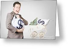 Finance And Money Growth Concept Greeting Card by Jorgo Photography - Wall Art Gallery