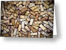 Fine Wine Corks Greeting Card by Frank Tschakert