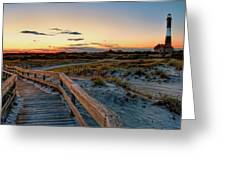 Fire Island Lighthouse At Robert Moses State Park Greeting Card by Jim Dohms