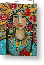 Fire Of The Spirit Greeting Card by Shiloh Sophia McCloud
