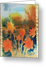Fire Storm In The Wild Flower Meadow Greeting Card by Amy Bernays