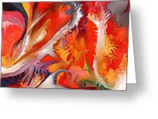 Fire Storm Greeting Card by Peter Shor
