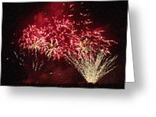 Fire Works Show Stippled Paint 4 Canada Greeting Card by Dawn Hay