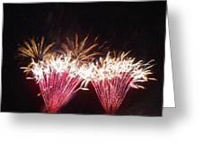 Fire Works Show Stippled Paint 7 Canada Greeting Card by Dawn Hay