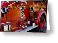 Fireman - Engine No 2  Greeting Card by Mike Savad