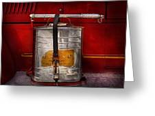 Fireman - Indian Pump  Greeting Card by Mike Savad