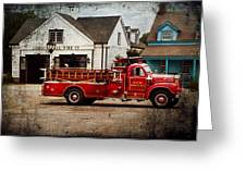 Fireman - Newark Fire Company Greeting Card by Mike Savad