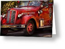 Fireman - The Garwood Fire Dept Greeting Card by Mike Savad