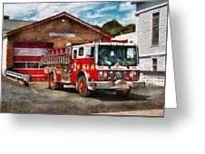 Fireman - Union Fire Company 1  Greeting Card by Mike Savad
