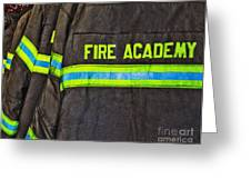 Fireman Jackets Greeting Card by Skip Nall