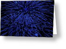 Firework Blues Greeting Card by DigiArt Diaries by Vicky B Fuller