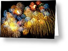 Fireworks Exploding  Greeting Card by Garry Gay