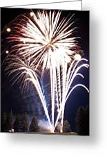 Fireworks No.3 Greeting Card by Niels Nielsen