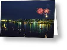 Fireworks Over Halifax Harbor Celebrate Greeting Card by James P. Blair