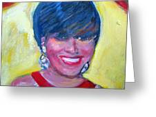 First Lady In Red Greeting Card by Patricia Taylor